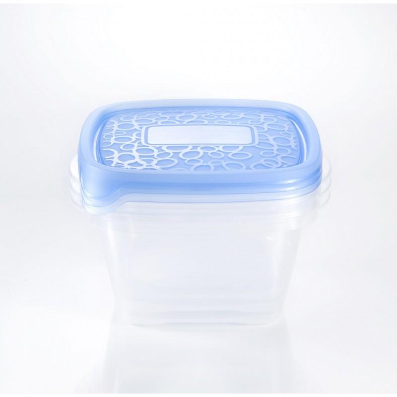 Sada potravinových dóz TAKE AWAY 3 x 1,1L modré 00476-862